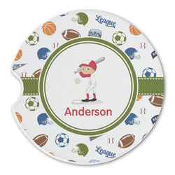 Sports Sandstone Car Coasters (Personalized)