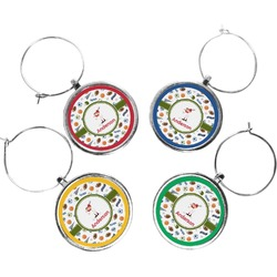 Sports Wine Charms (Set of 4) (Personalized)