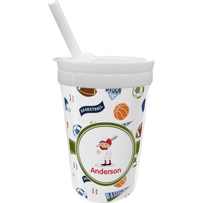 Sports Sippy Cup with Straw (Personalized)