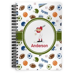 Sports Spiral Bound Notebook (Personalized)