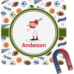 Sports Square Fridge Magnet (Personalized)