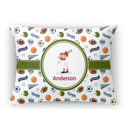 Sports Rectangular Throw Pillow Case (Personalized)
