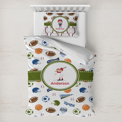 Sports Toddler Bedding w/ Name or Text