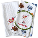Sports Waffle Weave Kitchen Towel (Personalized)