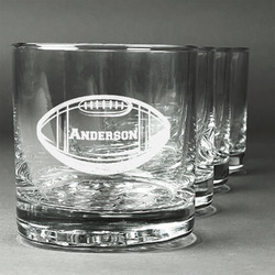 Sports Whiskey Glasses (Set of 4) (Personalized)
