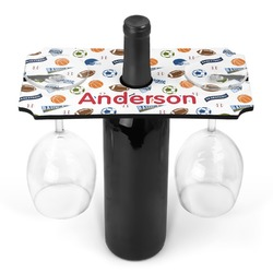 Sports Wine Bottle & Glass Holder (Personalized)