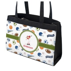 Sports Zippered Everyday Tote w/ Name or Text