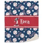 Baseball Sherpa Throw Blanket (Personalized)