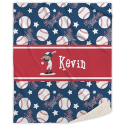 Baseball Sherpa Throw Blanket (Personalized)