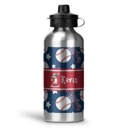 Baseball Water Bottle - Aluminum - 20 oz (Personalized)
