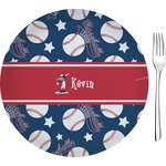 "Baseball Glass Appetizer / Dessert Plates 8"" - Single or Set (Personalized)"