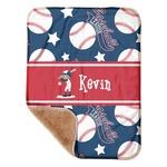"Baseball Sherpa Baby Blanket 30"" x 40"" (Personalized)"