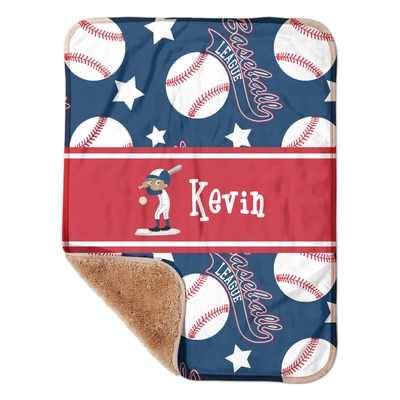 "Baseball Sherpa Baby Blanket 30"" x 40"" (Personalized)"