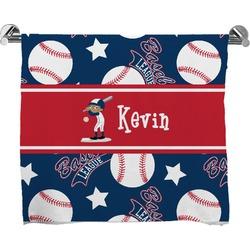 Baseball Full Print Bath Towel (Personalized)