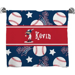 Baseball Full Print Bath Towel (Personalized)