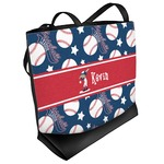 Baseball Beach Tote Bag (Personalized)