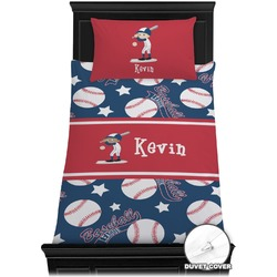 Baseball Duvet Cover Set - Twin (Personalized)