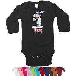 Baseball Bodysuit - Black (Personalized)