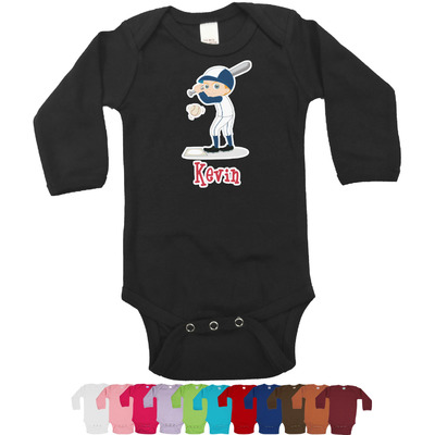 Baseball Long Sleeves Bodysuit - 12 Colors (Personalized)