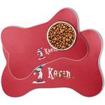 Baseball Bone Shaped Dog Food Mat (Personalized)