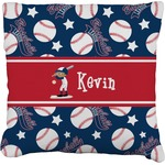 Baseball Faux-Linen Throw Pillow (Personalized)