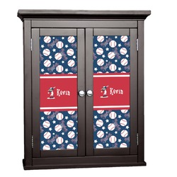 Baseball Cabinet Decal - Large (Personalized)