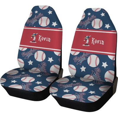 Baseball Car Seat Covers (Set of Two) (Personalized)