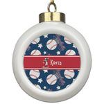 Baseball Ceramic Ball Ornament (Personalized)