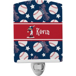 Baseball Ceramic Night Light (Personalized)
