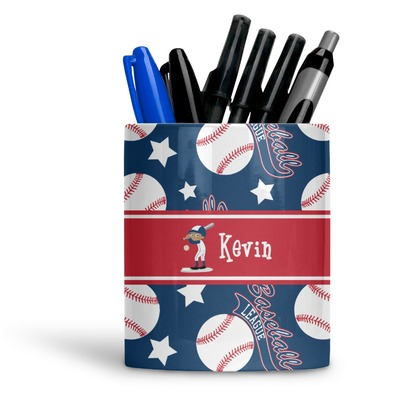 Baseball Ceramic Pen Holder