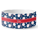 Baseball Ceramic Pet Bowl (Personalized)