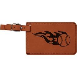 Baseball Leatherette Luggage Tag (Personalized)