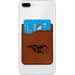 Baseball Leatherette Phone Wallet (Personalized)