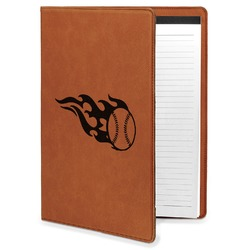 Baseball Leatherette Portfolio with Notepad (Personalized)
