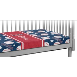 Baseball Crib Fitted Sheet (Personalized)