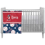 Baseball Crib Comforter / Quilt (Personalized)