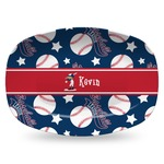 Baseball Plastic Platter - Microwave & Oven Safe Composite Polymer (Personalized)