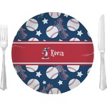 "Baseball 10"" Glass Lunch / Dinner Plates - Single or Set (Personalized)"