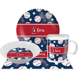 Baseball Dinner Set - 4 Pc (Personalized)