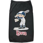 Baseball Black Pet Shirt (Personalized)