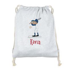 Baseball Drawstring Backpack - Sweatshirt Fleece (Personalized)