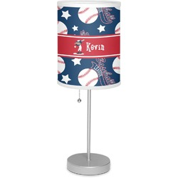 """Baseball 7"""" Drum Lamp with Shade (Personalized)"""