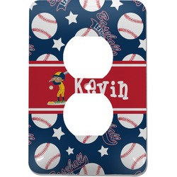 Baseball Electric Outlet Plate (Personalized)