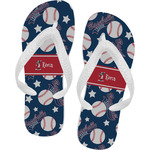 Baseball Flip Flops (Personalized)