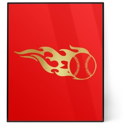Baseball 8x10 Foil Wall Art - Red (Personalized)