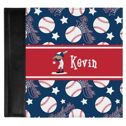 Baseball Genuine Leather Baby Memory Book (Personalized)
