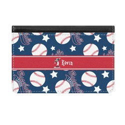 Baseball Genuine Leather ID & Card Wallet - Slim Style (Personalized)