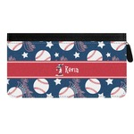 Baseball Genuine Leather Ladies Zippered Wallet (Personalized)