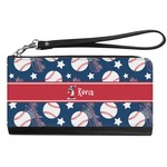 Baseball Genuine Leather Smartphone Wrist Wallet (Personalized)