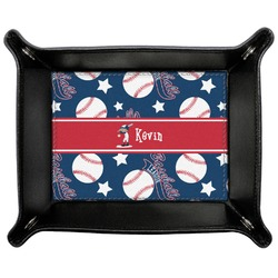 Baseball Genuine Leather Valet Tray (Personalized)
